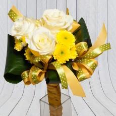 Rózsa krizantém sárga csokor