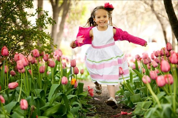 tulipan es kislany